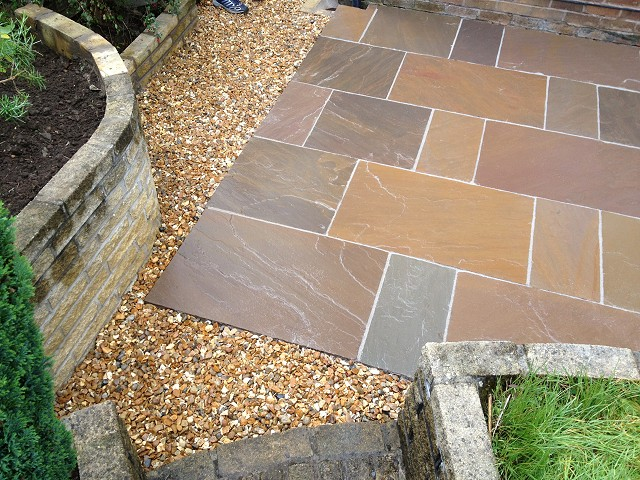 Indian Stone patio in Disley, Cheshire