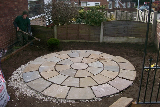 Indian Stone Patio in Bedbury
