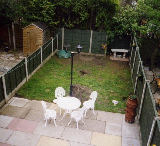 Garden landscaping project in stockport garden patio for Garden decking examples
