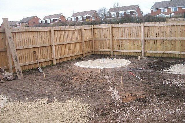 Garden landscaping project in offerton patios and raised for Evergreen landscapes ltd