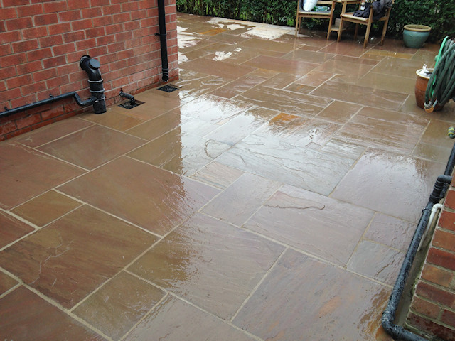 Indian Stone patio Cheadle Hulme: After